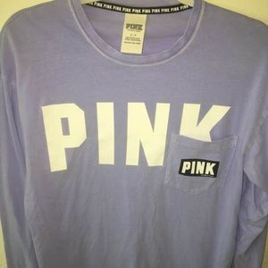 VS PINK Purple Pocket Tee size Small
